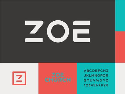 Zoe Church 3 typography vector logo icon church illustrator design identity branding brand