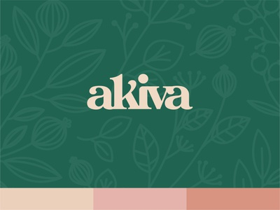 Akiva Concept 1 furniture boutique vector type monogram logotype typography icon illustrator design identity branding brand