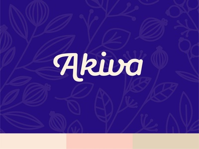 Akiva Concept 2 vector type furniture boutique monogram logotype typography illustrator design identity branding brand