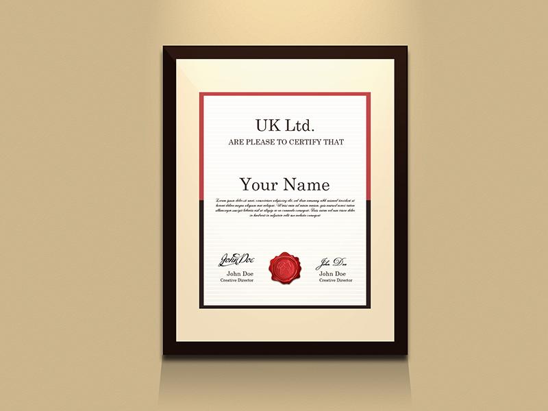 Free PSD) Certificate frame mockup by Hafijul Islam - Dribbble