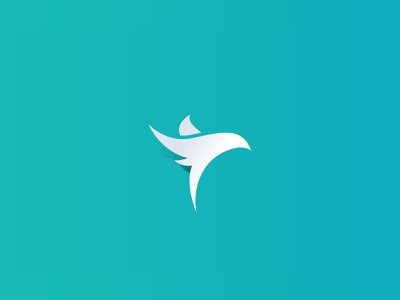 Proposal for GFS Airlines logo design gradient simple flight flying bird airlines plane aeroplane