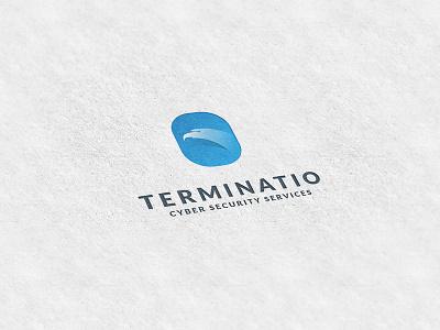 Terminatio gradient simple design logo security cyber eye eagle