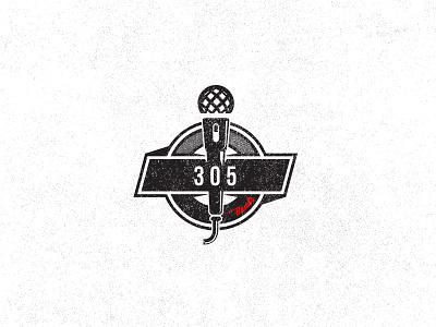305 speaker microphone mic band music logo design logo number numbers