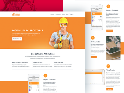 Dribbble about contact sponsor icons testimonial mobile ux ui web website yellow construction