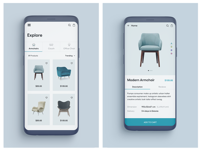 Furniture app design