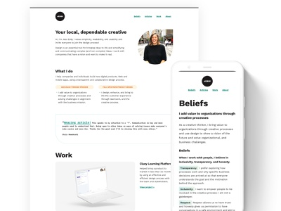 My new personal Website personal website designer consultant freelance personal website
