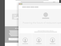 Homepage Redesign - Low Fidelity Wireframe
