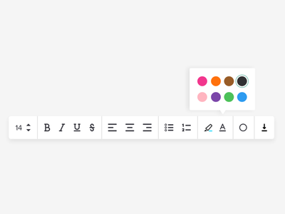 Simple Rich Text Editor colors visual design text editing text editor