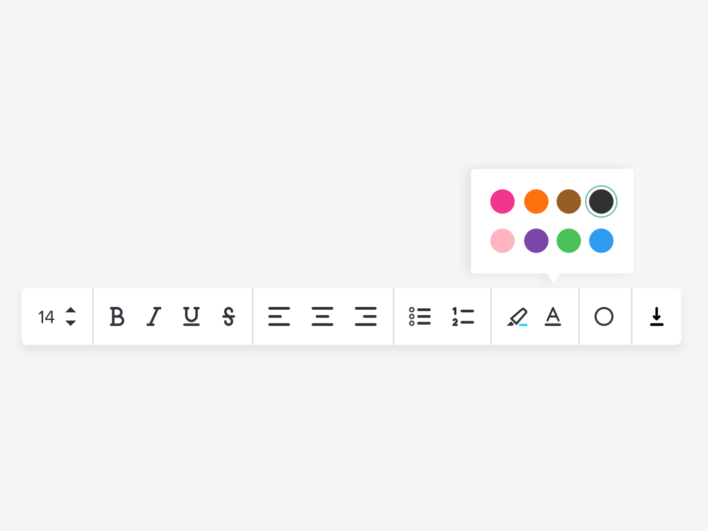 Simple Rich Text Editor by Jess Eddy on Dribbble