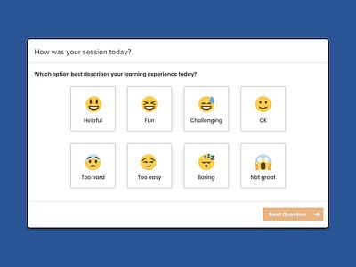 Rate Your Session emojis emoji visual design