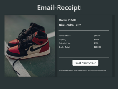 Email Receipt - DailyUi 017