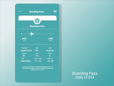 Boarding Pass - DailyUi024