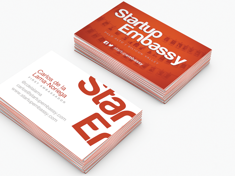 Startup Embassy Businesscards by Michal Kosecki - Dribbble