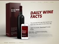 Daily Wine Facts - landing page