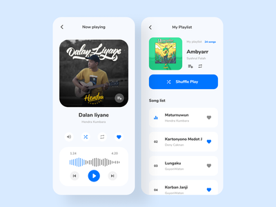 Muzika - Music Streaming Mobile App Design music app playlist song music player streaming music mobile app app ui ui design
