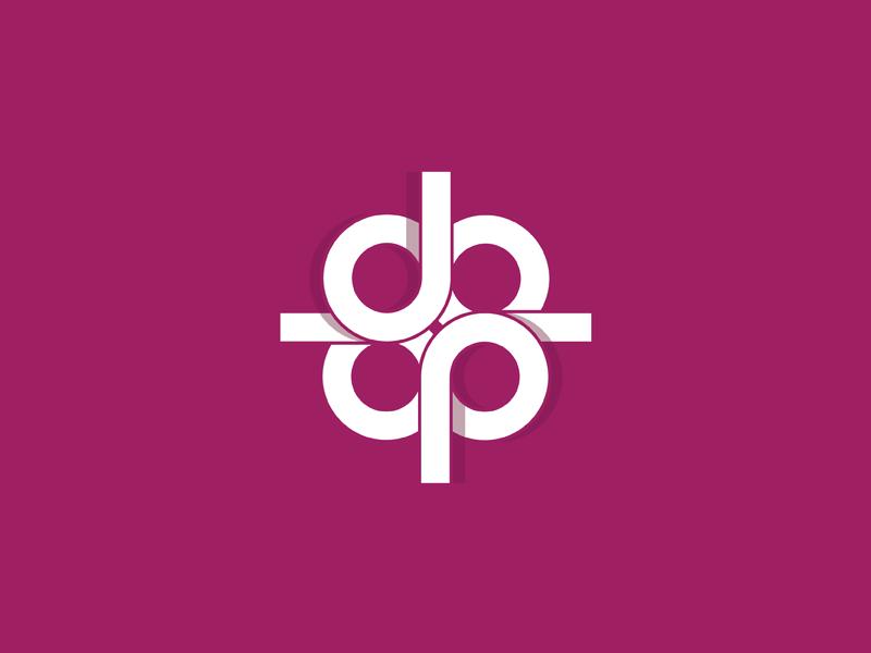 Abstract Monogram monogram logo mark symbol identity design illustration logotype typography letter d
