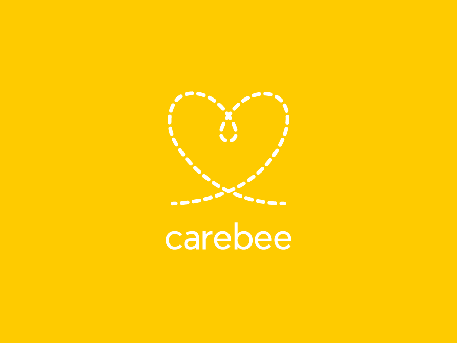 Carebee Logo Inverse design logo logo design corporate identity brand identity branding