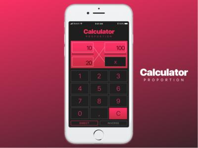 DailyUI #004 - Calculator proportion black pink design calculator ui dailyui