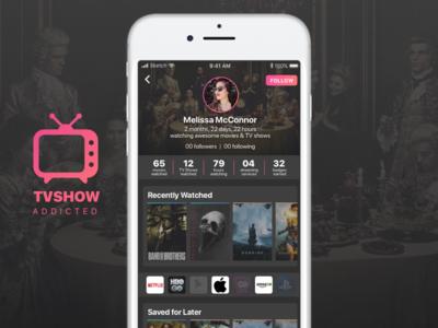 DailyUI #006 - Profile movies tvshows profile design challenge dailyui