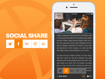 DailyUI #010 - Social Share 010 dailyui challenge orange news share social
