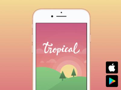 App @ Tropical android ios aplicativo tempo temperatura weather tropical app