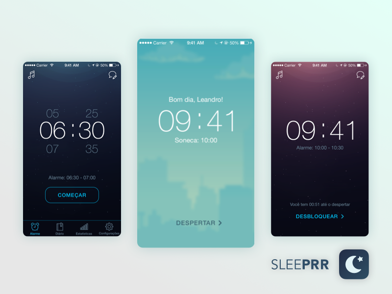 Sleeprrr @ Sleep Analysis App timer app design sleeprr sleep app