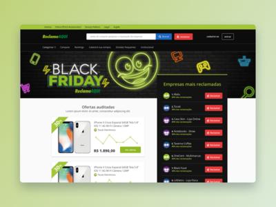Black Friday #01 @ Reclame Aqui reclameaqui reclame reclamação news green friday complaint black friday black