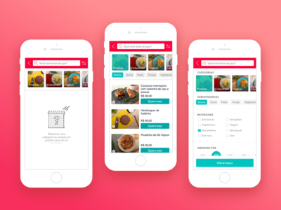 Search & Filters @ Liv Up filter search frozen healthy food mobile livup