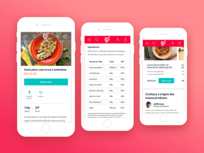 Product Page @ Liv Up design ux ui uiux mobile calories product page product healthy frozen food food livup