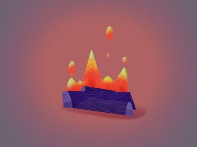 CAPMFIRE campfire fire design procreate photoshop animation illustration
