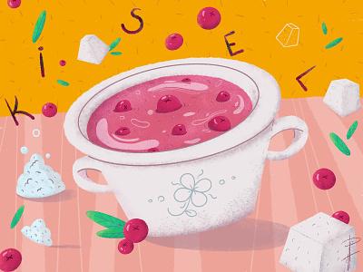 A Kisel beverage drinks food illustration stay at home quarantine free time flat design photoshop procreate illustration