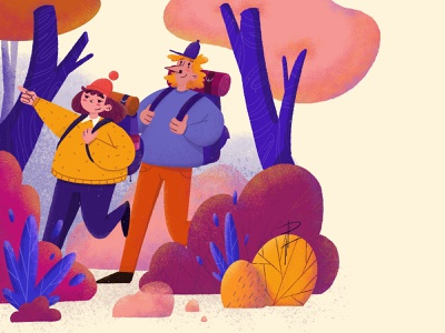 Safety nature illustration camping tips tips forest trip camping design animation photoshop procreate character design illustration