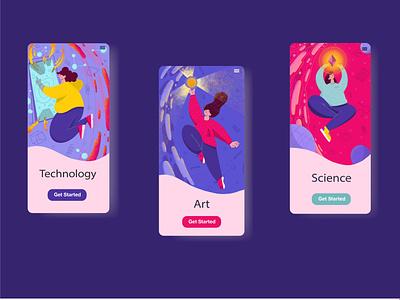 Illustrations for app app education adobe illustrator branding ui web character design procreate design illustration