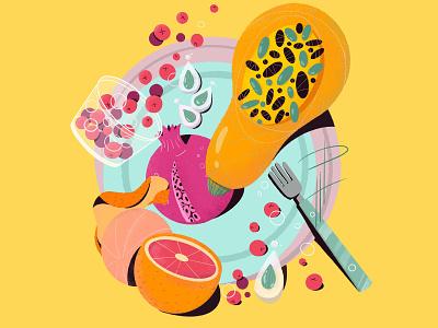 Still Life stilllife orange fruit food illustration flat branding design education website web character design procreate illustration