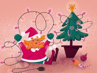 Merry Christmas!!! website design web flat character design procreate photoshop animation illustration