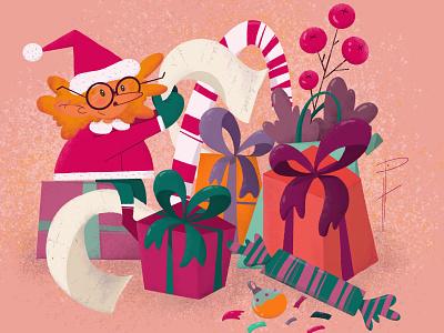 Happy New Year and Holidays! photoshop design web flat character design procreate animation illustration