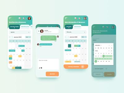 UI design webapp mobile mobile designer chat app calendar app calendar ui calendar mobile mobile app chat mobile responsive design mobile design mobile ui