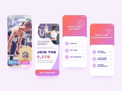 Onboarding app sport fitness fitness app color gradient uidesign ios app mobile application app uiapp ui splashscreen splash page onboarding