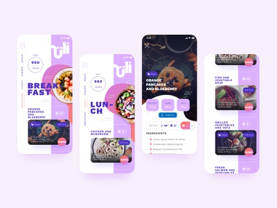 UI design webapp mobile mobile application mobile ui design mobile fitness app food design food and drink mobile ui responsive design mobile app design foodapp food mobile app mobile design mobile designer