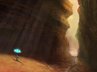 Digital drawing (canyon)