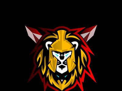 Knight Lion Logos business vector minimalist branding illustration logotype gaming graphic design logo design e sport company brand identity