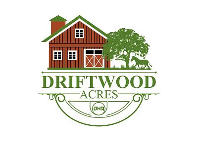 DriftWood Logos logotypedesign logotypes logo branding design design clean minimalist vector illustration logotype logo design barn house driftwood vintage company brand identity