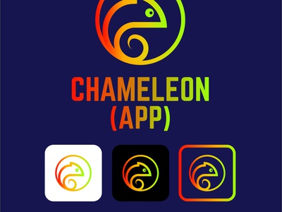 App Chameleon icon design icon character modern simple cute animal app app design chameleon logo vector minimalist branding illustration logotype logo design company brand identity