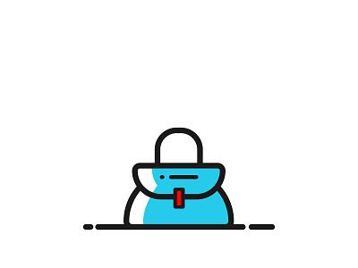 Logo Brand Bag clean minimalist logo modern illustration logo design luxury company brand identity bag design bag store bags bag logo