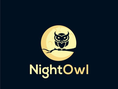 Night Owl Logo company logo nightmare night logos owl minimalist business modern clean branding illustration logotype logo design company brand identity