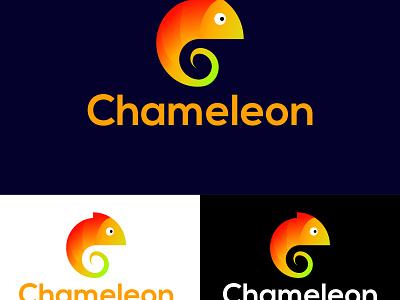 Chameleon animals character logo vector modern gradient color gradient logo chameleon minimalist illustration logo design company brand identity