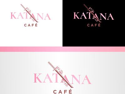 Katana Cafe cafeteria cafe logo katana logotype vector logo business minimalist clean logo design company brand identity modern cafe