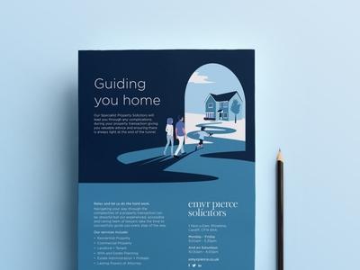Guiding you Home Illustration illustration agency illustrator solicitor advert marketing campaign advert design illustration design illustration