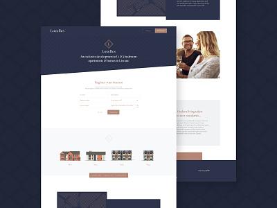 Lozelles Website Design logo branding ui design website design luxury website web design ux property marketing marketing design ui