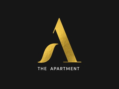 The Apartment Logo Design gold logo design vector identity letter a brand branding luxury icon symbol logo mark logo marketing design